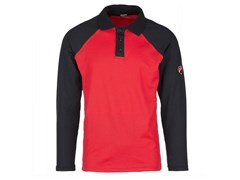 INNEX, INN-ASSEN RED/BLACK Polo ml con fianchetto 55% CO-45%PL (180 g/mq)