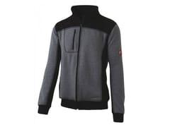Felpa full zip 80% CO-20% PL 310g/mqINN-HULL GREY MELANGE/BLACK - INNEX