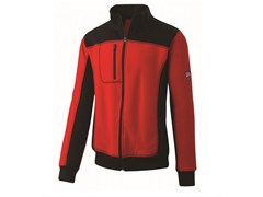 Felpa full zip 80% CO-20% PL 310g/mqINN-HULL RED/BLACK - INNEX