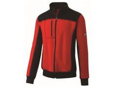 Felpa mezza zip 80%CO-20% PL 310g/mqINN-PODIUM RED/BLACK - INNEX
