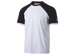 T-shirt 90% CO - 10% EA 190g/mqINN-VALENCIA WHITE/BLACK - INNEX