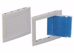Griglia di ventilazione quadrata rettangolare in ABSGRIGLIA ISPEZIONE CON FILTRO - DAKOTA GROUP