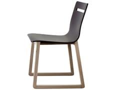 Sedia a slitta in legnoINT | Sedia - 4PLUS1 ITALIA