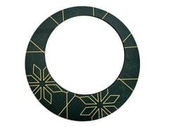 Specchio rotondo in pietra naturale con corniceINTARSIO GEOMETRY | Specchio - ORVI DESIGN STUDIO