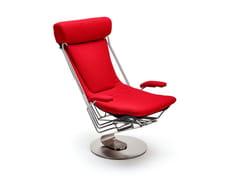 Poltrona reclinabile in tessuto con braccioli INTERDANE | Poltrona con braccioli -