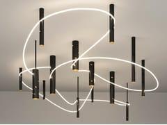 Lampada a sospensione / lampada da soffitto in alluminioINTERWEAVE | Lampada a sospensione - ARTEMIDE