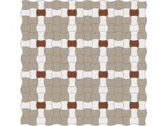 Pavimento/rivestimento antiscivolo in gres porcellanato per interni ed esterniINTRECCIO BUTTERFLY FULL BODY SU RETE - CE.SI. CERAMICA DI SIRONE