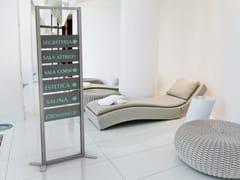 Cartello segnalatore in alluminio anodizzato per interniINUNO | Cartello segnalatore - STUDIO T