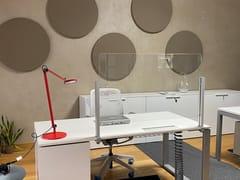 Pannello divisorio da scrivania in vetroINUNOVETRO | Pannello divisorio da scrivania - STUDIO T