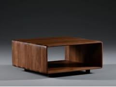 Tavolino da caffè in legno massello con vano contenitoreINVITO CUBE | Tavolino da caffè - ARTISAN
