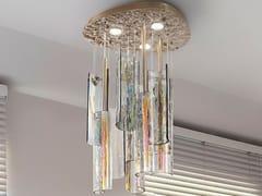 Lampada da soffitto a LED in vetro di MuranoIRIDE - PATRIZIA VOLPATO