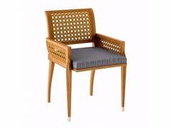 Sedia da giardino in teak con braccioli IRIS | Sedia da giardino - Iris