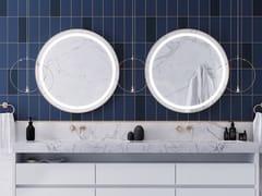 ESS Easy Drain, ISEO Specchio rotondo con illuminazione integrata