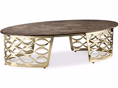 Tavolino ovale in marmo da salottoISIDORO | Tavolino ovale - CANTORI