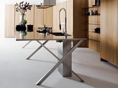 Modulo cucina freestanding in acciaio a isolaISOLA CROSS - ELMAR