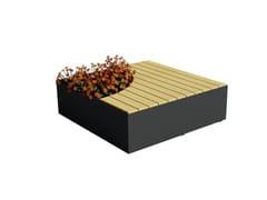 Panchina in legno con fioriera integrataISOLA - EUROFORM K. WINKLER