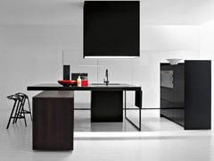 Modulo cucina freestanding in acciaio e legno con cassettiISOLA RADICAL - ELMAR