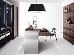 Modulo cucina freestanding in acciaio e legno con ripianiISOLA WING - ELMAR