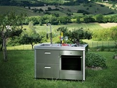 GPS INOX, ISOLELLA IS128CS Cucina da esterno a gas in acciaio inox
