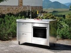GPS INOX, ISOLELLA IS128DS Cucina da esterno elettrica in acciaio inox