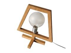 Lampada da tavolo a luce diretta alogena in rovereIT - ARKOF LABODESIGN