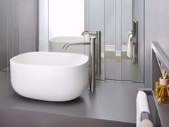 Miscelatore per lavabo da piano monoforo in acciaio inox IX | Miscelatore per lavabo monoforo - iX