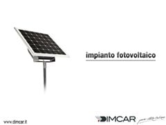 Pensilina con pannelli fotovoltaiciImpianto fotovoltaico per pensiline - DIMCAR