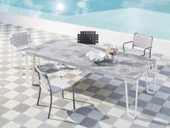 Tavolo da giardino rettangolare in gres porcellanato INOUT 933 | Tavolo in gres porcellanato - InOut