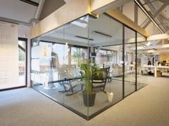 Pareti divisorie per ufficio in vetro resistenti al fuocoPareti divisorie per ufficio - AVC GEMINO