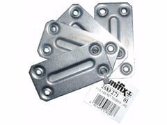 Piastre di fissaggio diritte fascettate in ferro zincatoPiastre di fissaggio diritte fascettate - UNIFIX SWG
