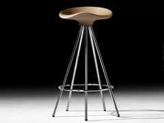 Sgabello su trespolo in alluminio e legno con poggiapiediJAMAICA | Sgabello su trespolo - BD BARCELONA DESIGN