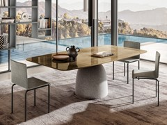 Tavolo rettangolare con base in cemento e piano in XGlassJANEIRO | Tavolo rettangolare - LAGO