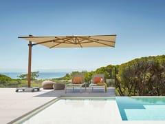 Ombrellone quadrato in Sunbrella® con palo lateraleJCP.401 - JARDINICO