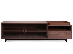 Mobile TV in legno impiallacciato con ante in vetroJEAN | Mobile TV in legno impiallacciato - CDHC PRODUCTIONS