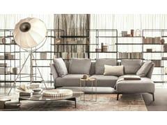 Divano in tessuto con chaise longueJERMYN | Divano con chaise longue - LEMA