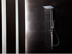 Colonna doccia a parete in ottone con doccettaJETTO | Colonna doccia - TECH RAIN