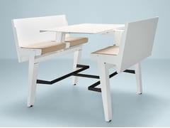 Prooff, JOINTABLE Banco pieghevole in alluminio con sedie integrate