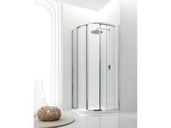 Box doccia semicircolare in vetro con porta scorrevole JOLLY - 6 - Jolly