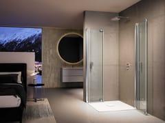 Provex Industrie, JOLLY FREE JE-2 Box doccia angolare in vetro temperato con porta a soffietto