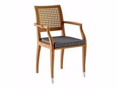 Sedia da giardino in teak con braccioli JONQUILLE | Sedia con braccioli - Jonquille