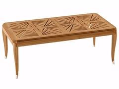 Tavolo allungabile da giardino rettangolare in teak JONQUILLE | Tavolo rettangolare - Jonquille