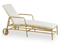 Lettino da giardino reclinabile con ruoteJOSEPHINE SUNBED - SIKA-DESIGN