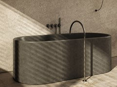Vasca da bagno centro stanza ovale in pietra naturaleJP BATH - COCOON