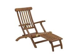 Sedia a sdraio reclinabile in teakJUNIOR | Sedia a sdraio - IL GIARDINO DI LEGNO
