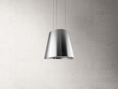 Cappa ad isola in acciaio inox con illuminazione integrata classe AJUNO - ELICA