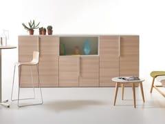 Mobile ufficio in rovere svezia e maniglie metallicheK-BOX | Mobile ufficio in rovere - MANERBA