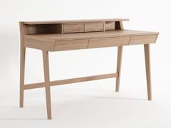 Scrivania in legno massello con cassettiK/DESK   Scrivania con cassetti - KARPENTER