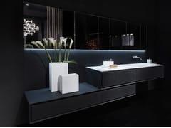 Mobile lavabo singolo in pietra lavica K.ONE | Mobile lavabo in pietra lavica - K.One