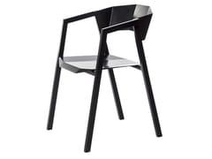 Sedia in alluminio con braccioli con schienale apertoK   Sedia - BENTU DESIGN