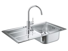 Lavello a una vasca da incasso in acciaio inox con gocciolatoio K400 | Lavello a una vasca - K400